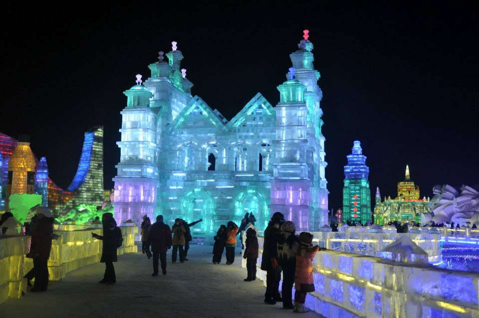 A section of the ice festival in Harbin