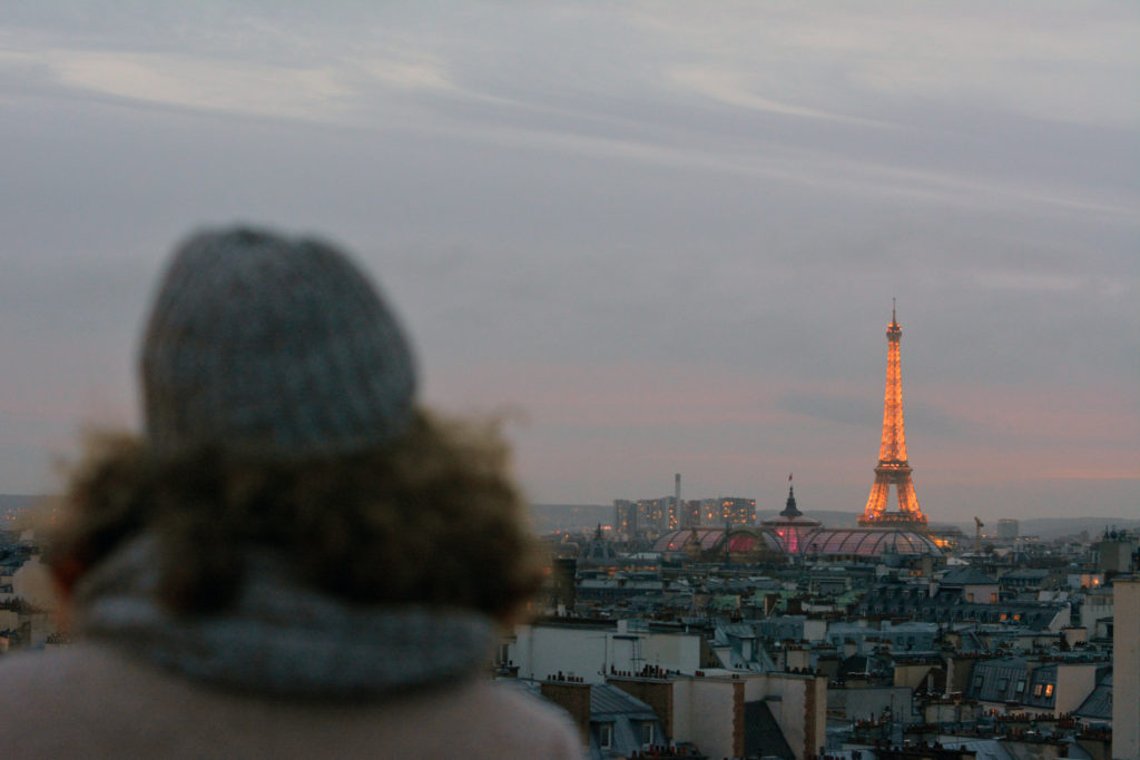 Sophie and Eiffel Tower in Paris