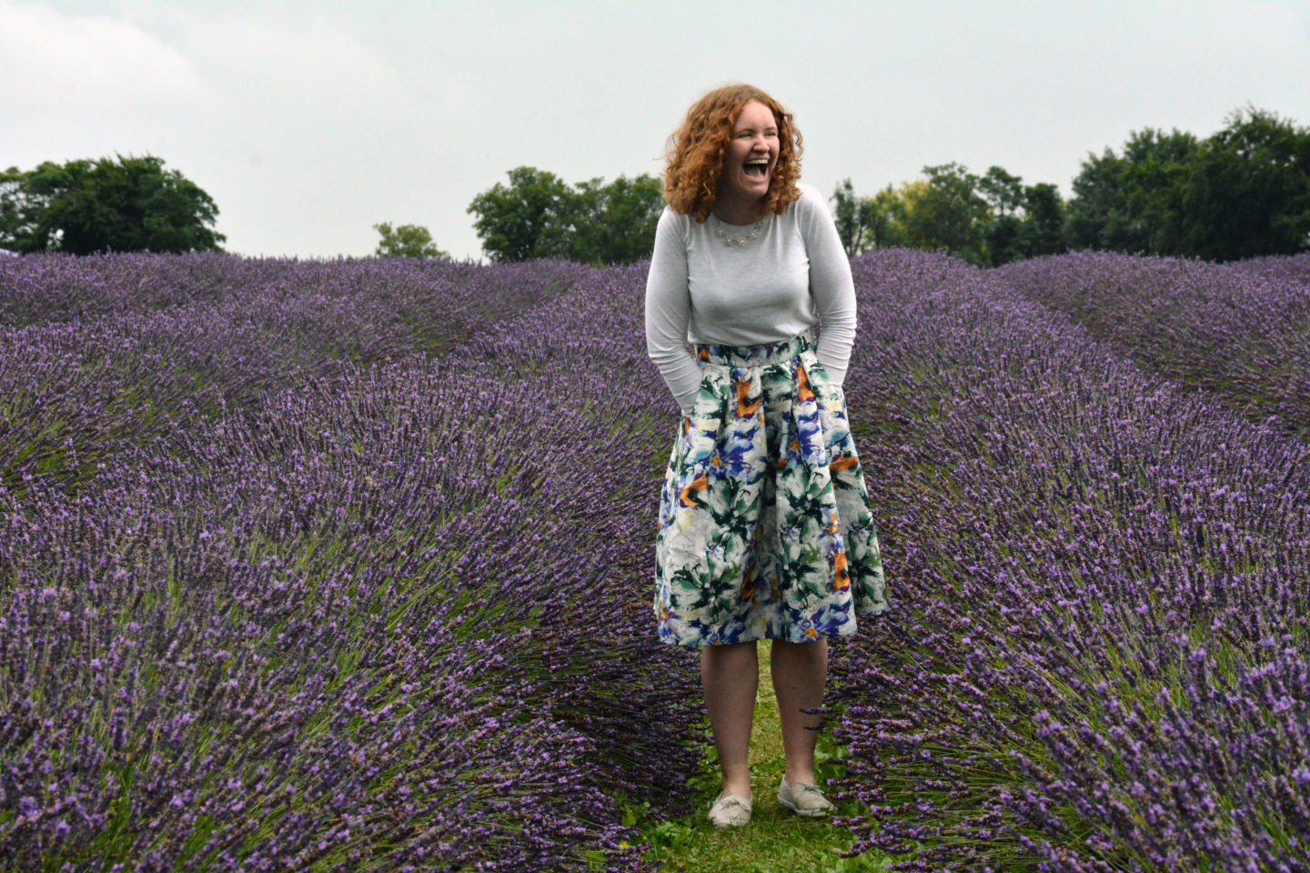 Sophie in the lavender field