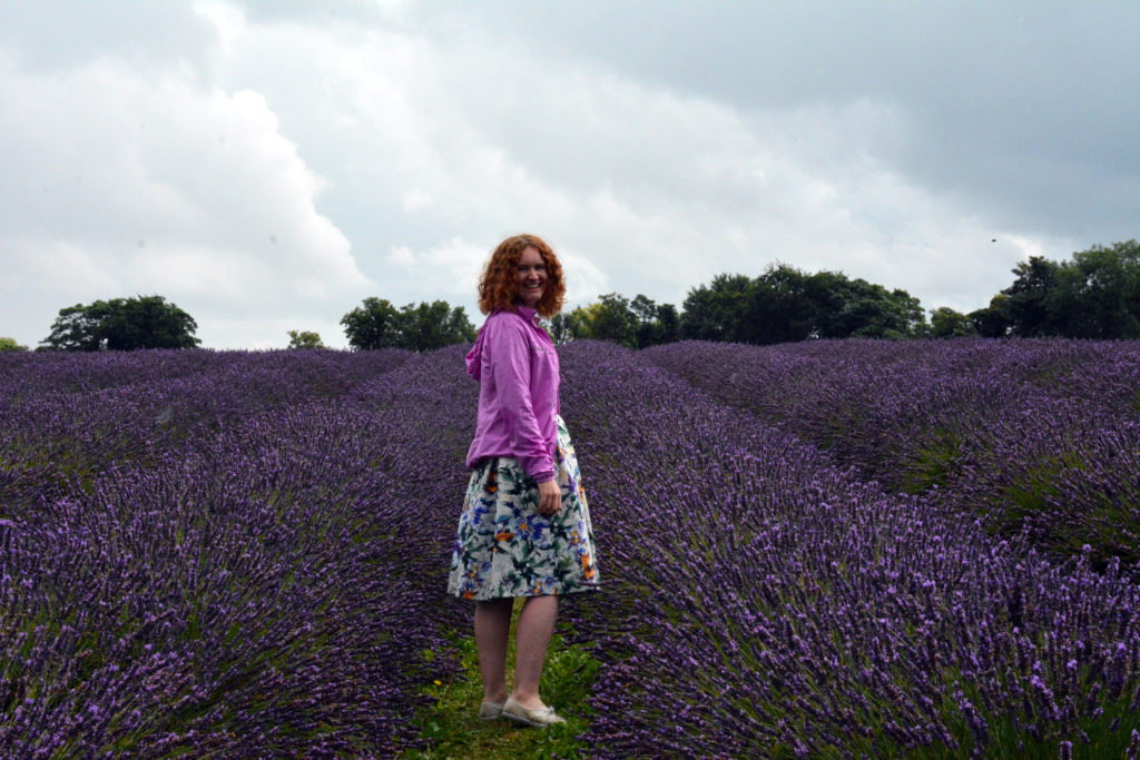 Sophie and lavender field