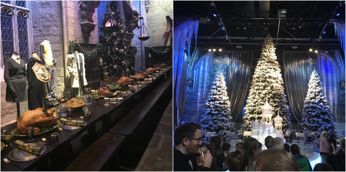 Hogwarts Great Hall and Christmas trees