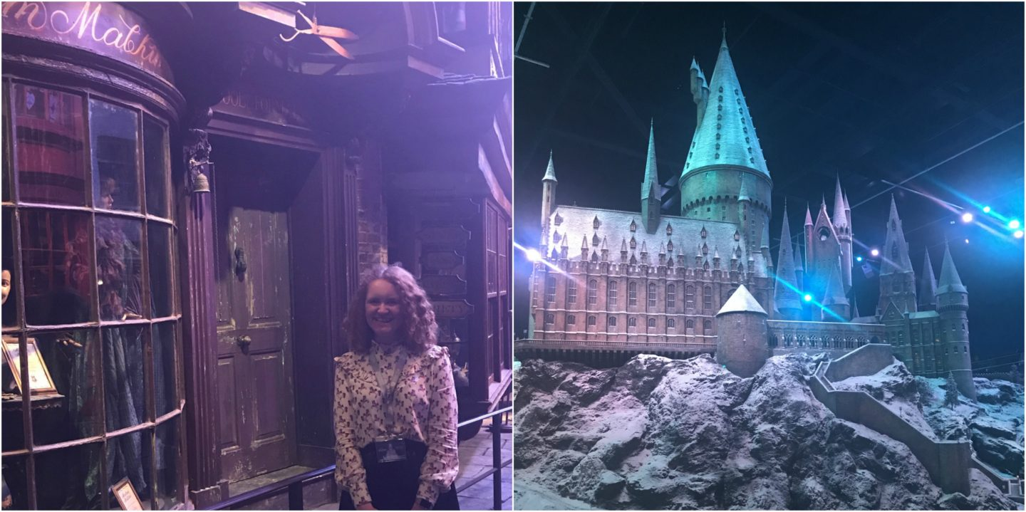 Hogwarts castle covered in snow
