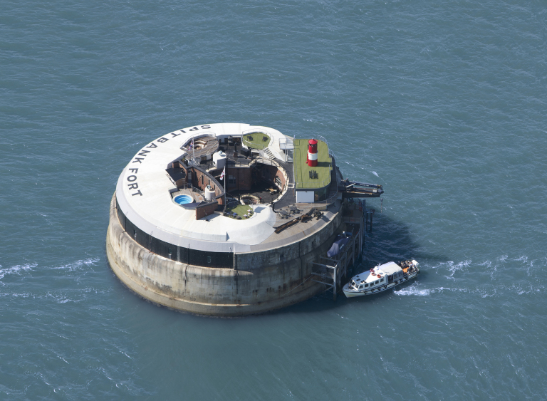 Spitbank Fort from above