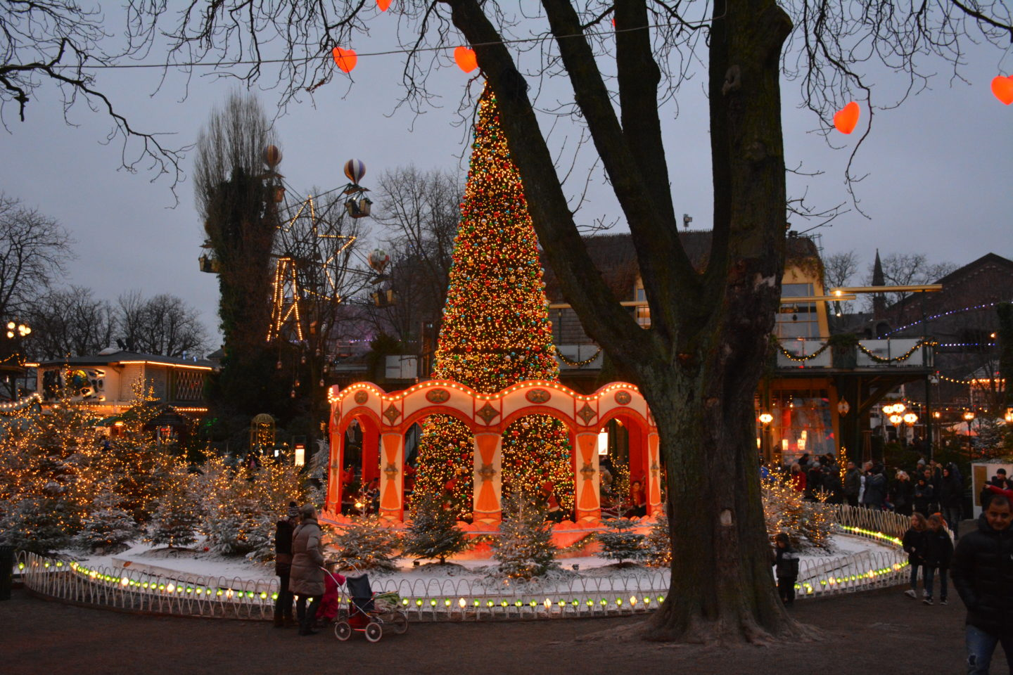 A Christmas tree in Tivoli Gardens, Copenhagen