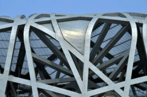 The birds nest in Beijing
