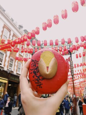 Chinese New Year doughnut from Doughnut Time