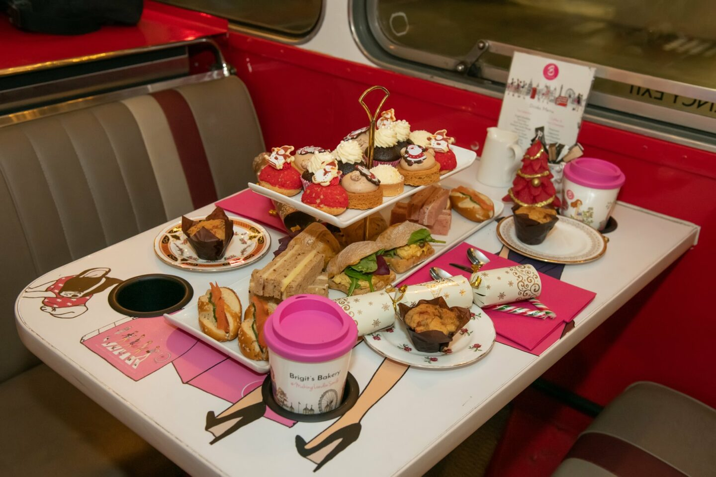 The afternoon tea on the bus