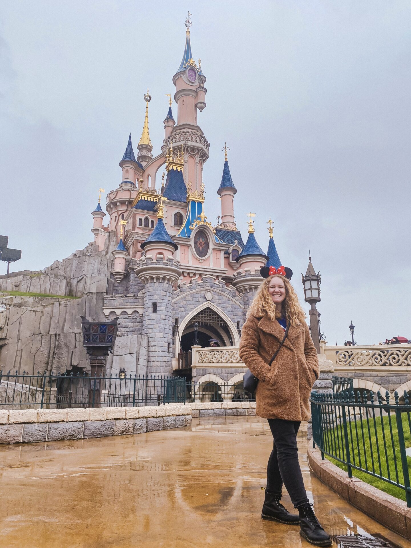 Sophie at the castle in Disneyland Paris
